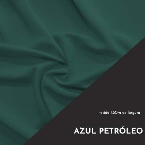 Tecido Tricoline Liso Cor Azul Petróleo 100% algodão