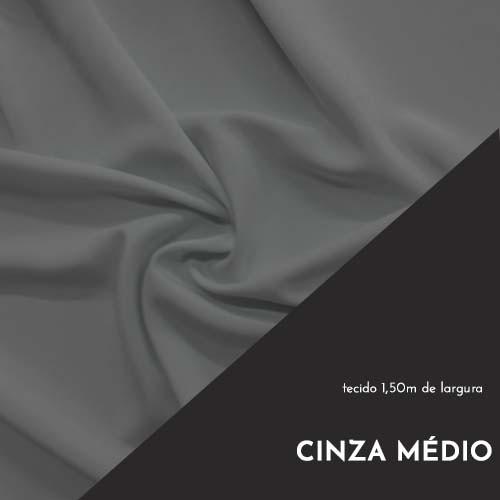 Tecido Tricoline Liso Cor Cinza Médio 100% algodão