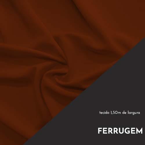 Tecido Tricoline Liso Cor Ferrugem 100% algodão