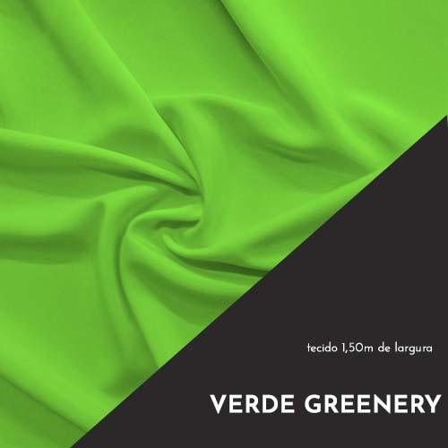 Tecido Tricoline Liso Cor Greenery 100% algodão