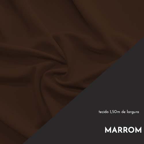 Tecido Tricoline Liso Cor Marrom 100% algodão