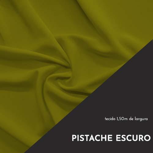 Tecido Tricoline Liso Cor Pistache Escuro 100% algodão