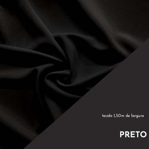 Tecido Tricoline Liso Cor Preto 100% algodão