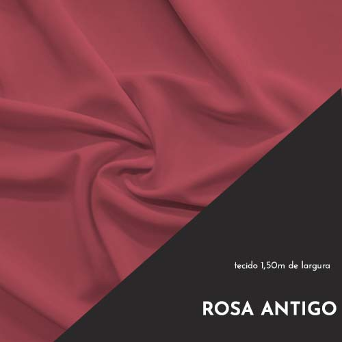 Tecido Tricoline Liso Cor Rosa Antigo 100% algodão