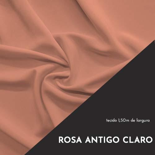 Tecido Tricoline Liso Cor Rosa Antigo Claro 100% algodão
