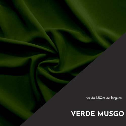 Tecido Tricoline Liso Cor Verde Musgo 100% algodão