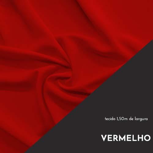 Tecido Tricoline Liso Cor Vermelho 100% algodão