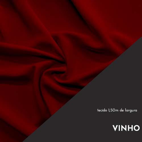 Tecido Tricoline Liso Cor Vinho 100% algodão