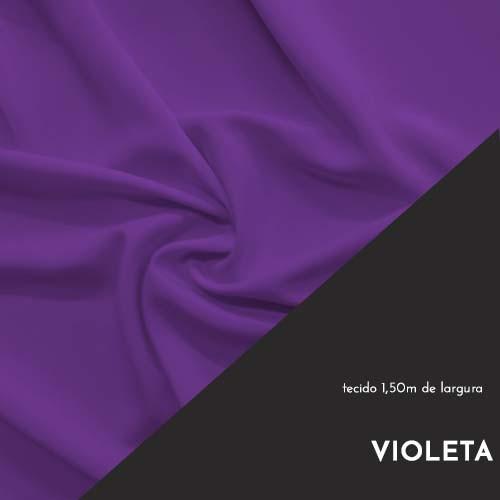 Tecido Tricoline Liso Cor Violeta 100% algodão