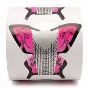 Molde Adesivo Borboleta 300 Unidades Unhas de Porcelana e Gel
