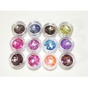 Kit de Glitter Encapsulado com 12 Cores