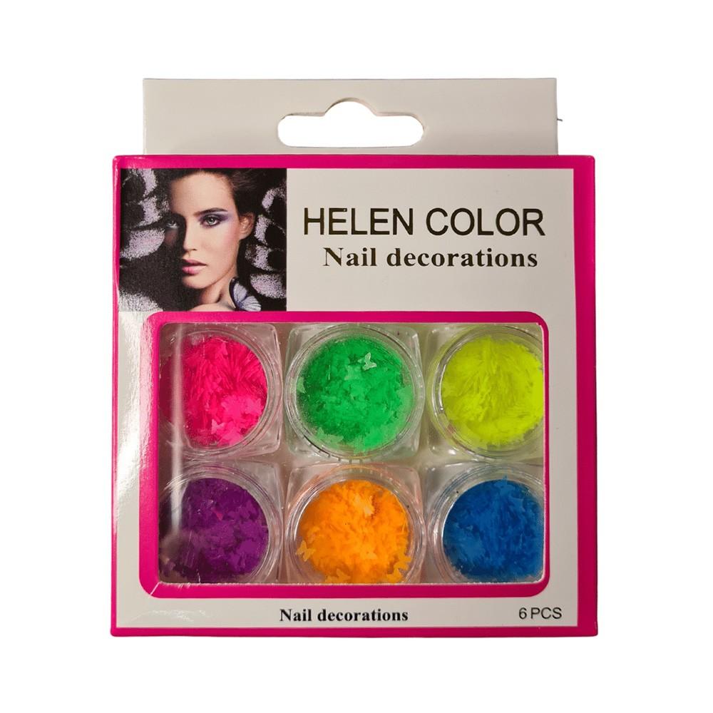 Borboleta Neon Encapsular - 6 Cores - Helen Color