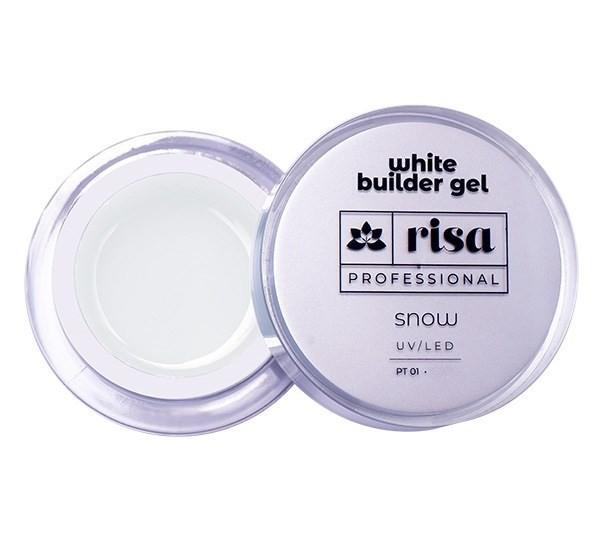 Builder Gel Snow White 15ml - Risa Professional