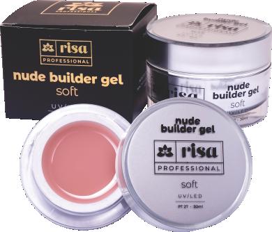 Builder Gel Soft Nude 15ml - Risa Professional