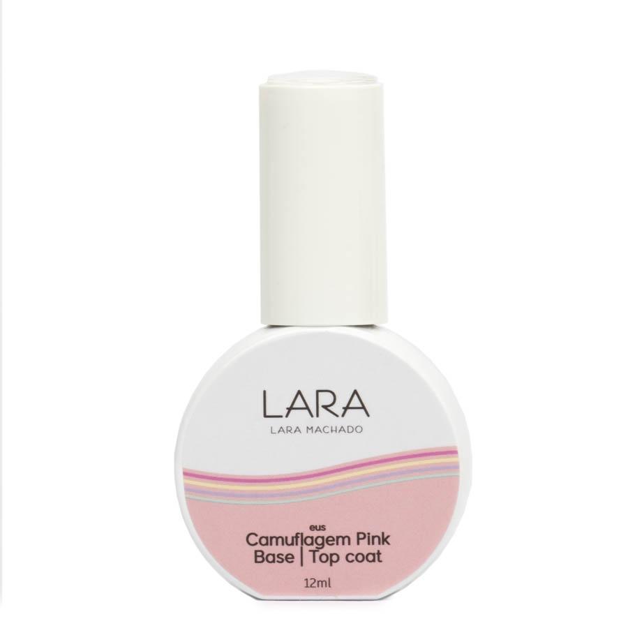 Camuflagem Pink Base - Top Coat - Lara Machado - 12ml