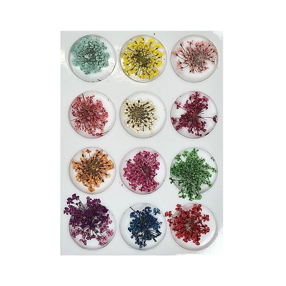 Flor Seca para Unhas Decoradas (12 Cores)