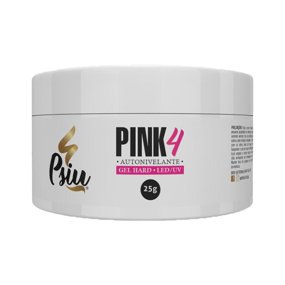 Gel Autonivelante p/ Unhas - Pink 4 - Psiu (25g)