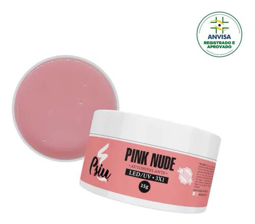 Gel Autonivelante p/ Unhas - Pink Nude - Psiu (25g)