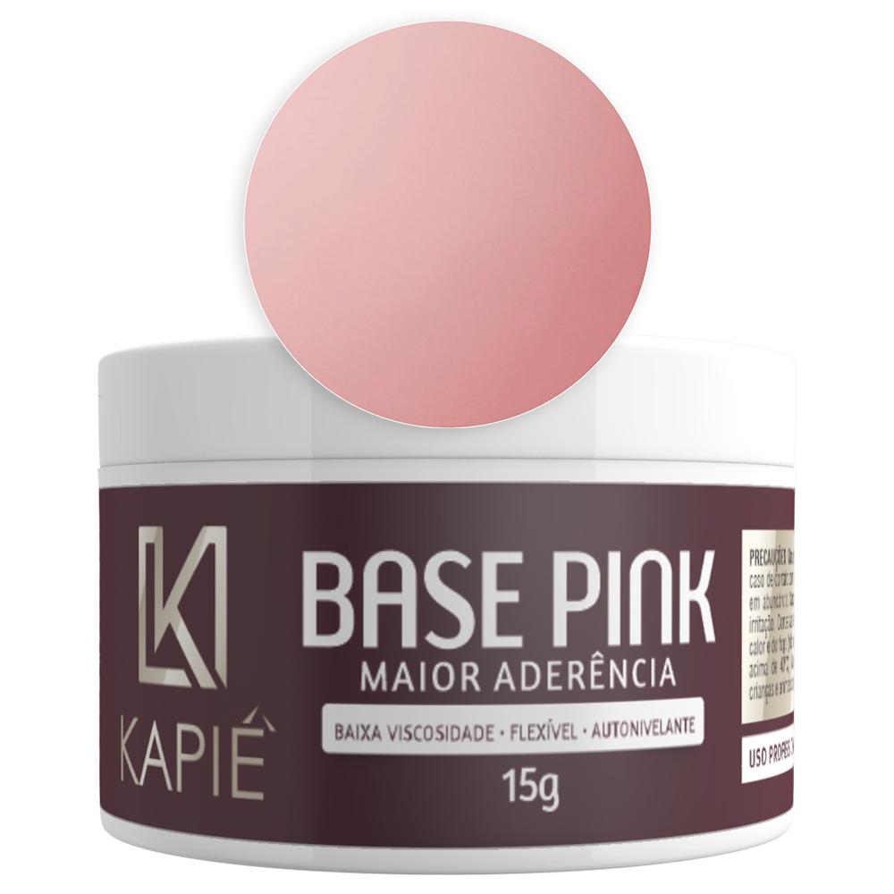Gel Capa Base Pink - Maior Aderência (15g) - Kapie Cosmeticos