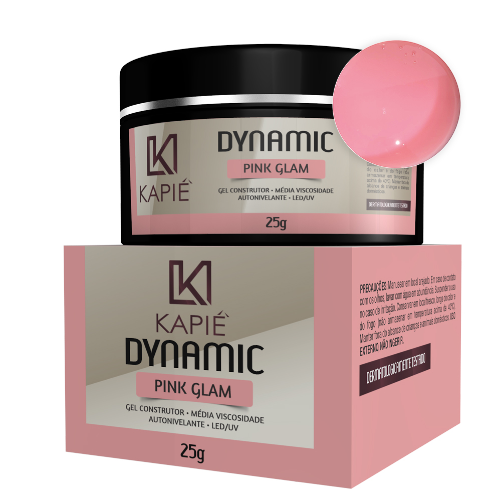 Gel Construtor Pink Glam (25g) - Kapie Dynamic Cosmeticos