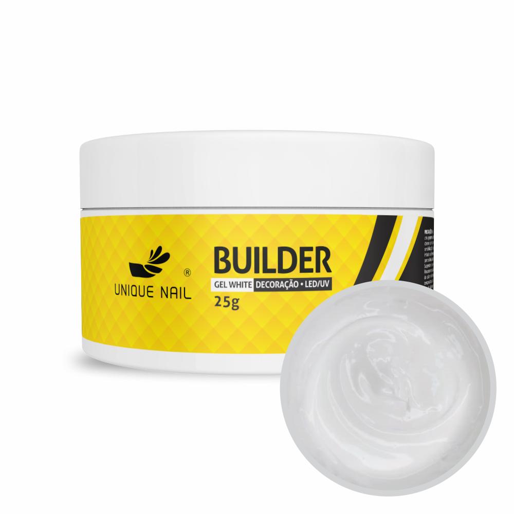 Gel Hard Builder White Branco - Unique Nail - 25g