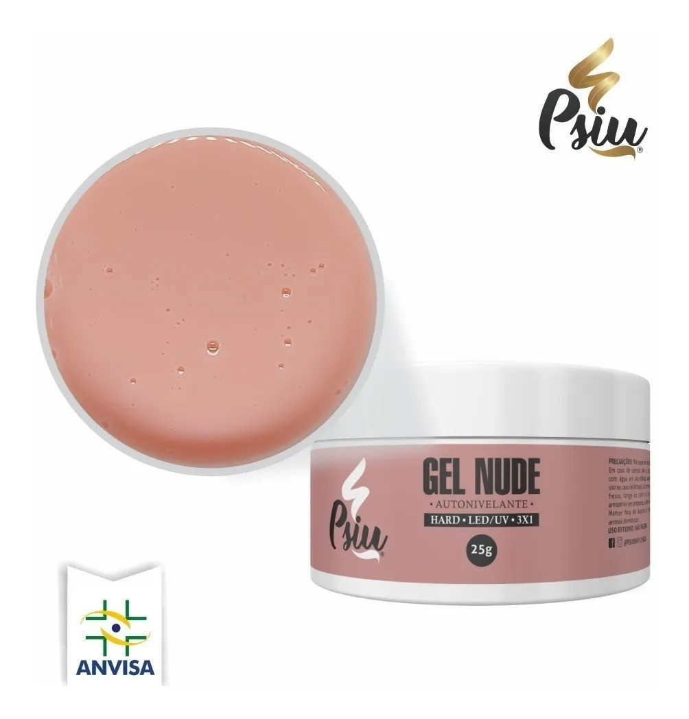 Gel 3x1 p/ Unhas - Nude - Psiu (25g)