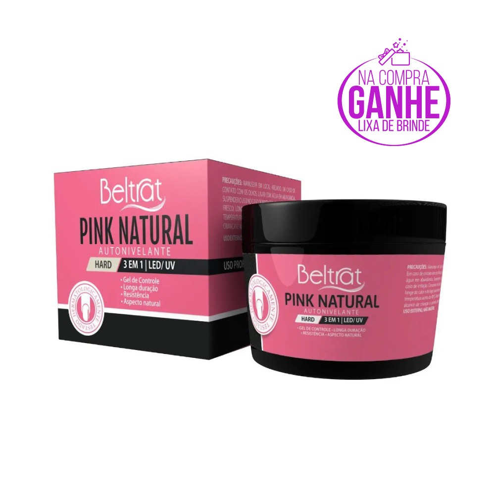 Gel Hard p/ Unhas - Pink Natural - Beltrat