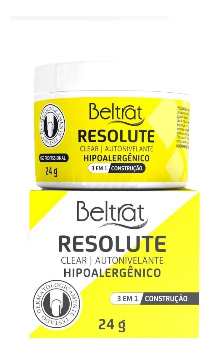 Gel p/ Unhas Resolute - Clear - Beltrat (24g)