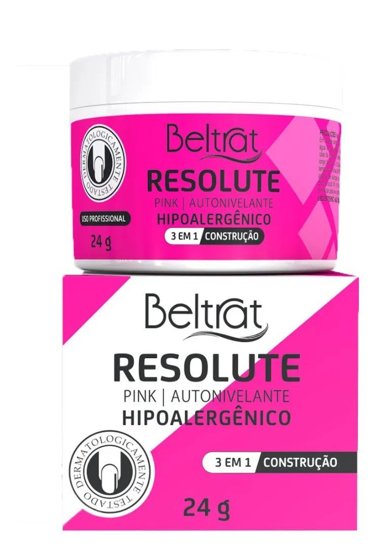 Gel p/ Unhas Resolute - Pink - Beltrat (24g)