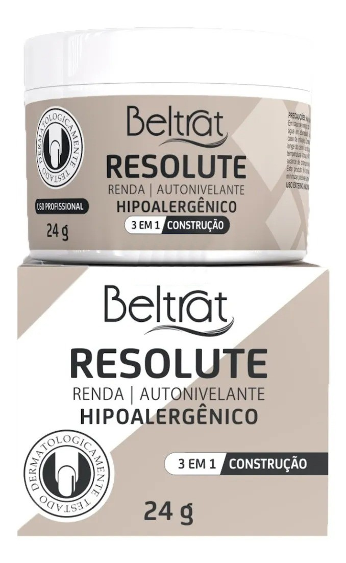 Gel p/ Unhas Resolute - Renda - Beltrat (24g)