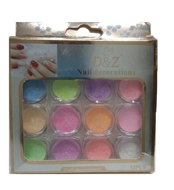 Glitter Açucarado Colorido - 12 Cores