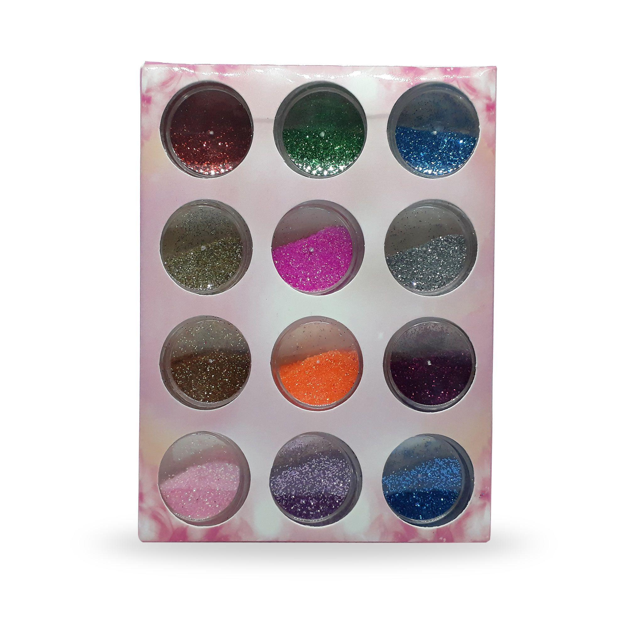 Glitter Fino Encapsulado para Unhas (12 Cores)