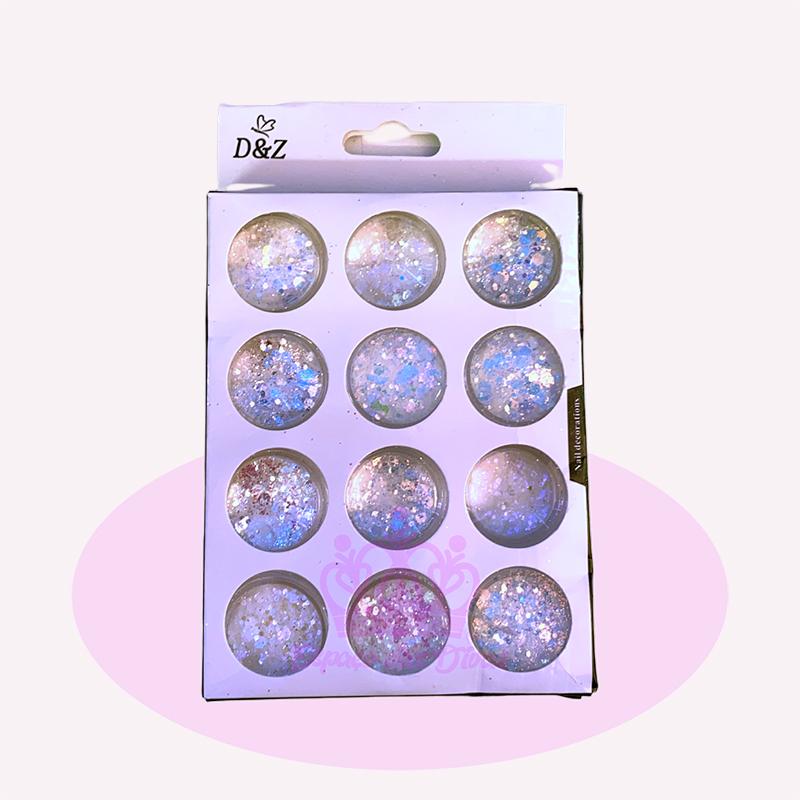 Glitter Flocado Branco - 12 Unid