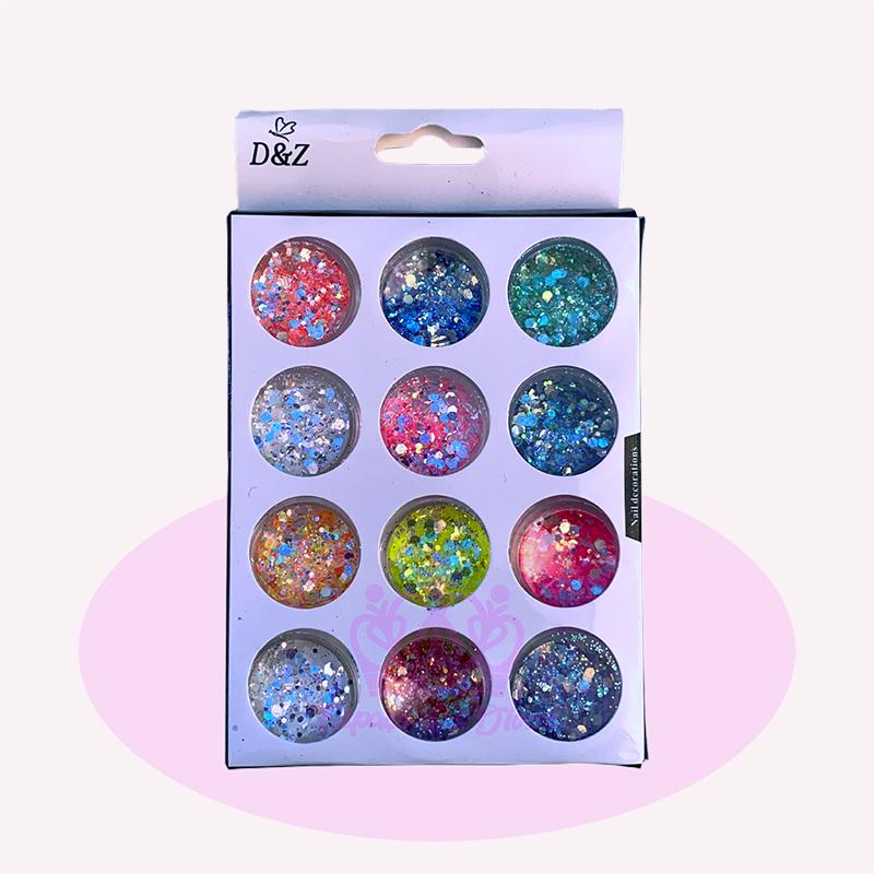 Glitter Flocado Colorido - 12 Cores