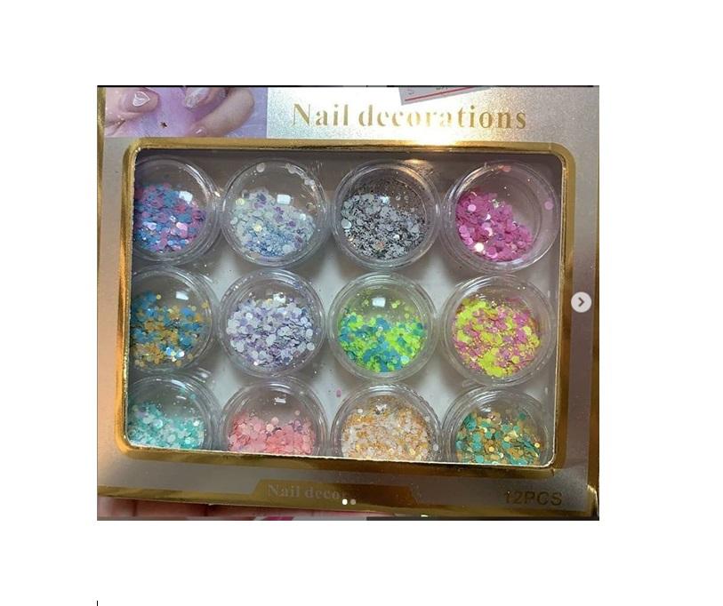 Glitter Flocado Colorido Neon Vivas - 12 Cores
