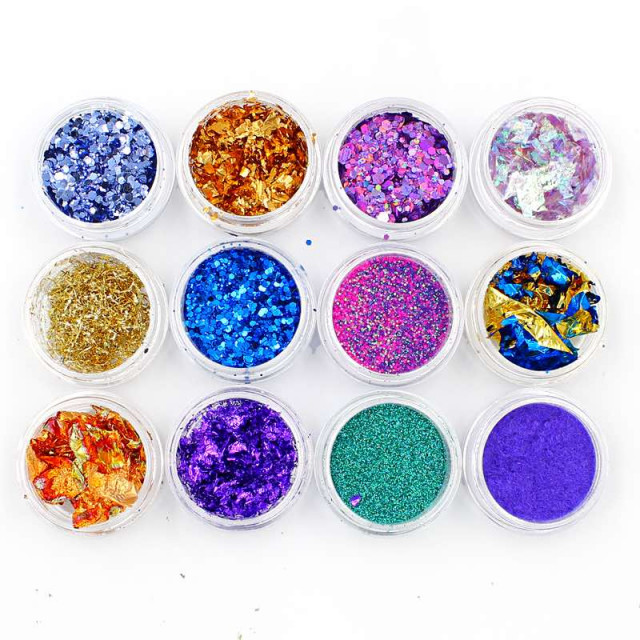 Glitter Sereia Mix de Cores - 12 Unid