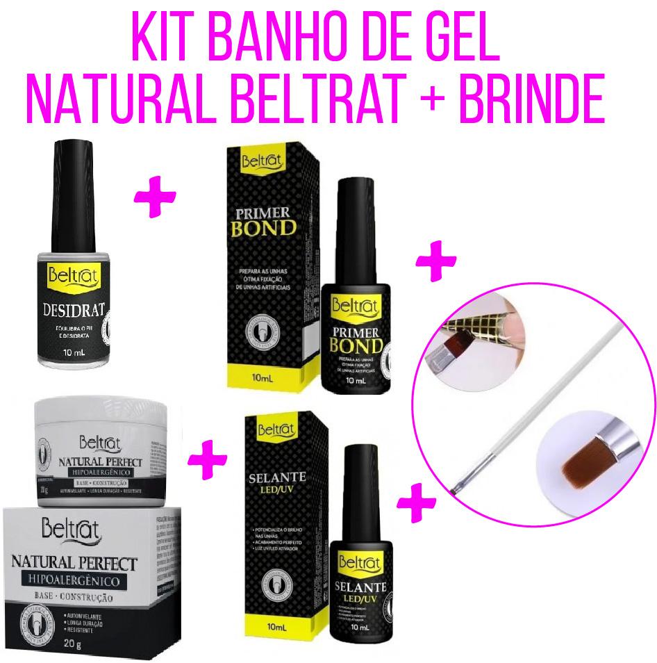 Kit Banho de Gel Natural - Beltrat - Brinde Pincel