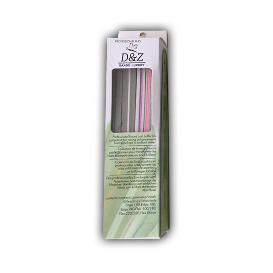 Kit com 6 Lixas D&Z - 150 / 180 / 240 / 100-180 / 220-280 / 1000-4000