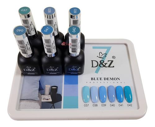 Kit Esmalte em Gel - Blue Demon Completa - D&Z / DeZ / DZ
