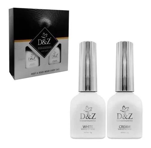 Kit Esmalte em Gel para Francesinha Luxo - Led UV - D&Z