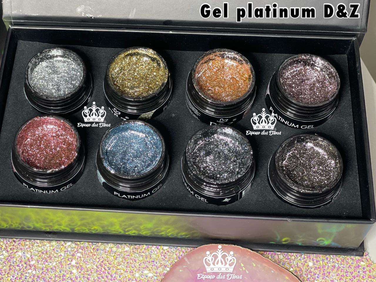 Kit Platinum Gel D&Z - Soak Off UV/LED - 8 Cores