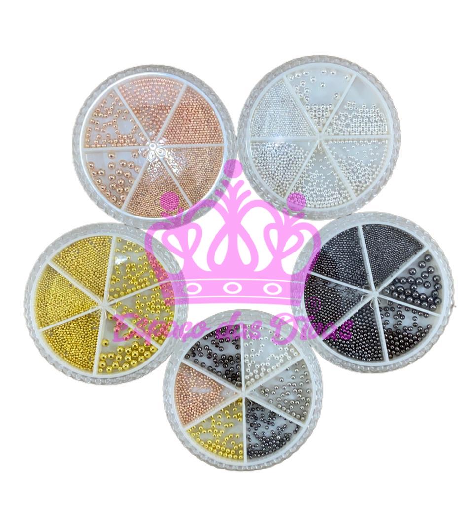 Mix de Caviar de Metal (Aprox 30g) - Cores e Tamanhos