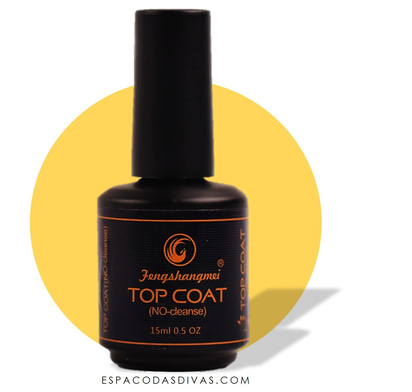 Top Coat Fengshangmei 15ml - Pretinho do Poder