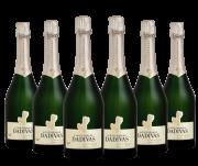 Combo Dádivas Espumante Brut Blanc de Blanc + Tampa para garrafa de espumante dourada