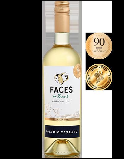 Lidio Carraro Faces do Brasil Chardonnay 2017 750ml  - C2C COMÉRCIO INTEGRADO