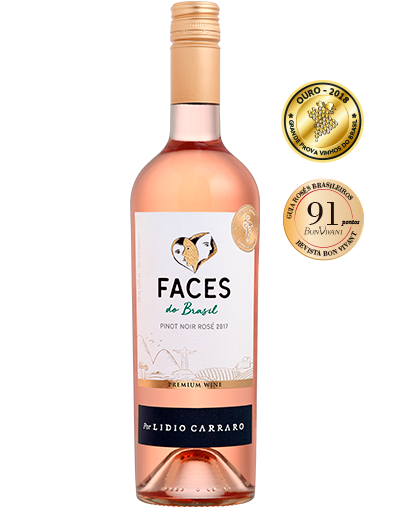 Lidio Carraro Faces do Brasil Pinot Noir Rosé 2017 750ml  - BOUTIQUE LIDIO CARRARO