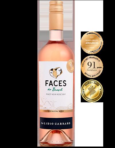 Lidio Carraro Faces do Brasil Pinot Noir Rosé 2017 750ml  - BOUTIQUE LIDIO CARRARO