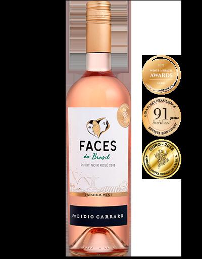 Lidio Carraro Faces do Brasil Pinot Noir Rosé 2018 750ml  - C2C COMÉRCIO INTEGRADO