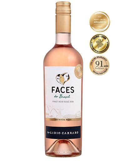 Lidio Carraro Faces do Brasil Pinot Noir Rosé 2019 750ml  - Boutique Lidio Carraro
