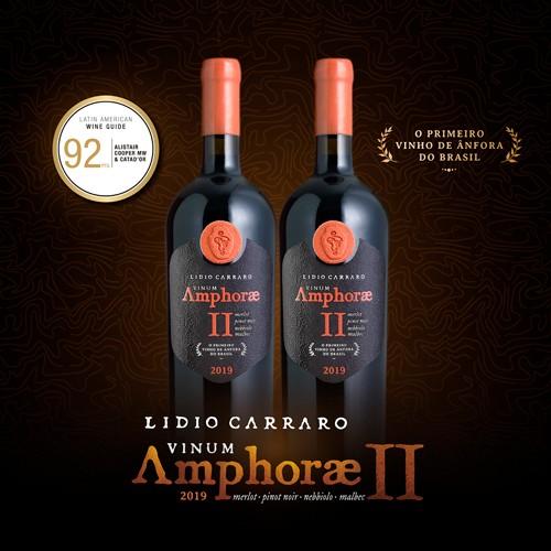 VINUM AMPHORAE II safra 2019 - Cota com 2 garrafas de 750ml  - Vinícola Lidio Carraro